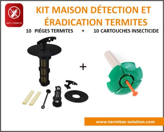Kit maison détection éradication termites x10
