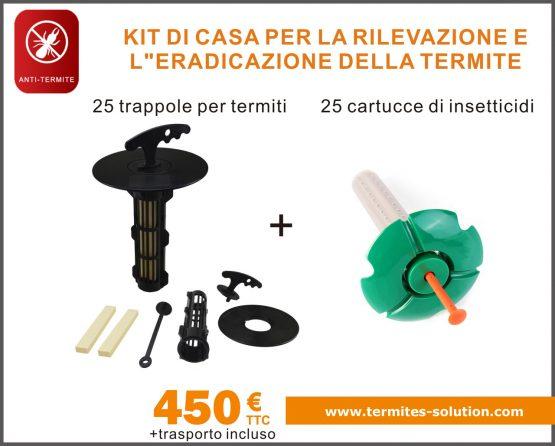 Sradicamento di termiti per il rilevamento a domicilio di kit