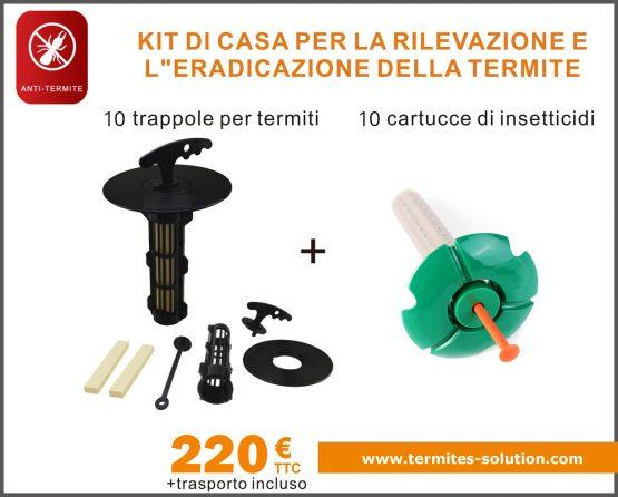 Sradicamento di termiti per il rilevamento a domicilio di kit x10